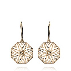 Fiorelli - Gold plated cut out earrings
