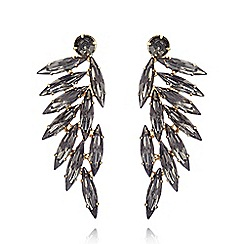 Fiorelli - Gold plated leaf earrings