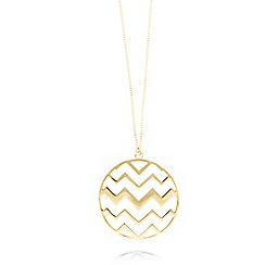 Fiorelli - Gold plated zig zag pendant necklace