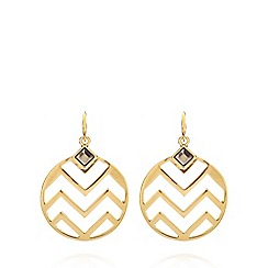 Fiorelli - Gold plated zig zag earrings