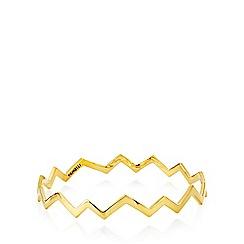 Fiorelli - Gold plated zig zag bracelet