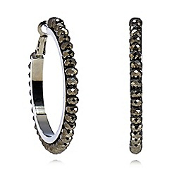 Fiorelli - Silver plated beaded hoop earrings