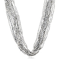 Fiorelli - Silver plated twisted rope necklace