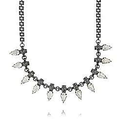 Fiorelli - Black stone spike necklace