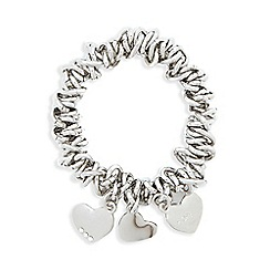 Fiorelli - Silver plated heart chain bracelet