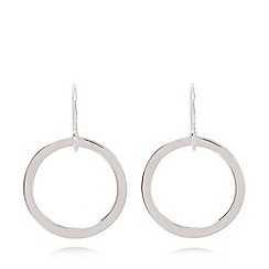 J by Jasper Conran - Silver plated hoop earrings