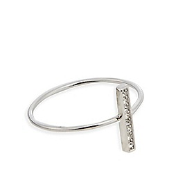 J by Jasper Conran - Silver crystal bar ring