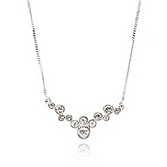 J by Jasper Conran - Silver crystal cluster necklace