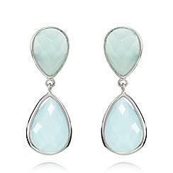 Van Peterson 925 - Sterling silver aqua drop earrings