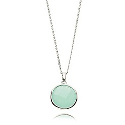 Van Peterson 925 - Sterling silver aqua pendant necklace
