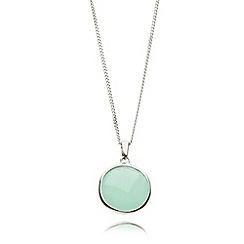 Van Peterson 925 - Sterling silver aqua pendant necklace