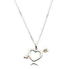 Van Peterson 925 - Sterling silver heart and arrow necklace