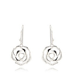 Van Peterson 925 - Sterling silver rose earrings