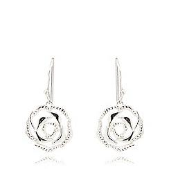 Van Peterson 925 - Sterling silver rose earrings
