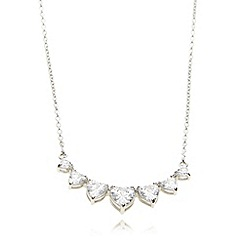 Van Peterson 925 - Sterling silver heart crystals necklace