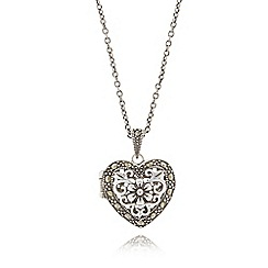No. 1 Jenny Packham - Sterling silver heart locket necklace