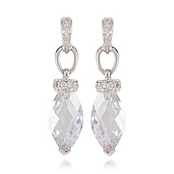 No. 1 Jenny Packham - Sterling silver gem drop earrings