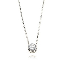 No. 1 Jenny Packham - Sterling silver crystal bezel necklace