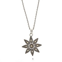 No. 1 Jenny Packham - Sterling silver marcasite flower necklace