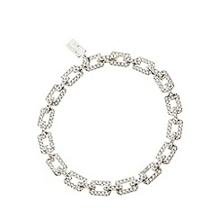 No. 1 Jenny Packham - Sterling silver diamante chain bracelet