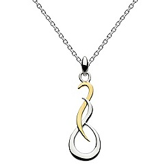 Dew - Sterling silver with gold plate small curve pendant