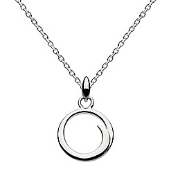 Dew - Sterling silver twirl circle necklace
