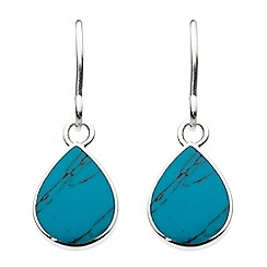 Dew - Sterling silver pear shape turquoise drop earrings