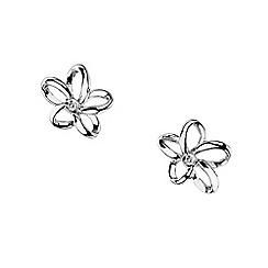 Hot Diamonds - Silver 'paradise' flower earrings