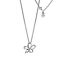 Hot Diamonds - Silver 'paradise' flower pendant necklace