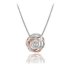 Hot Diamonds - Sterling silver 'Eternal Rose' necklace