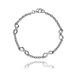Hot Diamonds - Sterling silver 'Infinity' bracelet