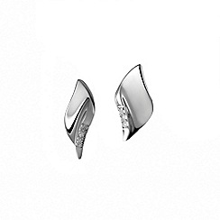 Hot Diamonds - Sterling silver 'Pave Leaf' earrings