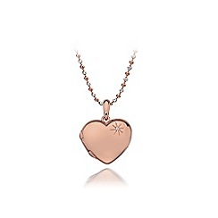 Hot Diamonds - Sterling silver and Rose gold plated 'Memoirs' locket