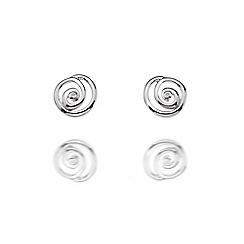Hot Diamonds - Sterling silver 'Spiral Stud' earrings
