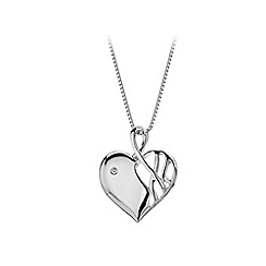 Hot Diamonds - Sterling silver 'Arabesque Eclipse' heart pendant