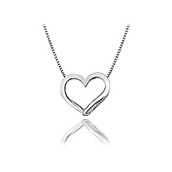 Hot Diamonds - Sterling silver 'Simply Sparkle Heart' pendant