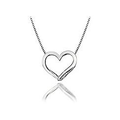 Hot Diamonds - Sterling silver 'Simply Sparkle Heart' pendant