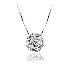 Hot Diamonds - Sterling silver 'Eternal Rose' pendant