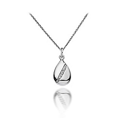Hot Diamonds - Sterling silver 'Shooting Stars Teardrop' pendant