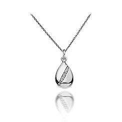 Hot Diamonds - Sterling silver 'Shooting Stars Teardrop' pendant