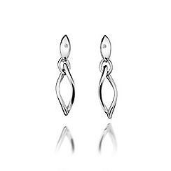 Hot Diamonds - Sterling silver 'Simply Sparkle Twist Drop' earrings