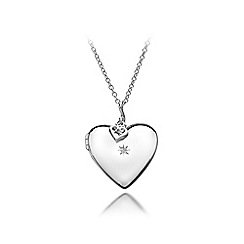 Hot Diamonds - Sterling silver 'Giselle Heart Locket' necklace