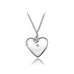 Hot Diamonds - Sterling silver 'Giselle Heart Locket' necklace