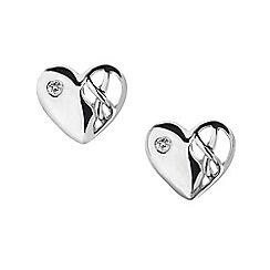 Hot Diamonds - Sterling silver 'Eclipse Heart' earrings