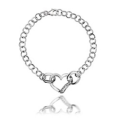 Hot Diamonds - Sterling silver 'Simply Sparkle Heart' bracelet
