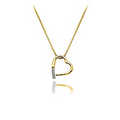 Hot Diamonds - Sterling silver with 18ct yellow gold plated 'Memories' pendant