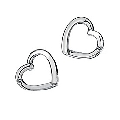 Hot Diamonds - Sterling silver 'Just Add Love' earrings