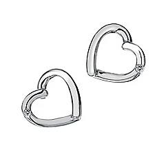 Hot Diamonds - Sterling silver 'Just Add Love' earrings
