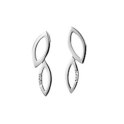 Hot Diamonds - Sterling silver 'Multi Leaf' Simply Sparkle earrings