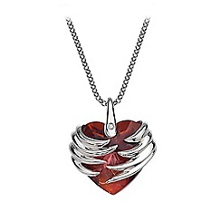 Hot Diamonds - Sterling silver 'Angel Heart Magma' pendant